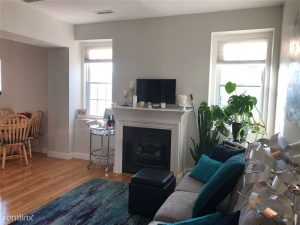 living room in a Medford MA apartment