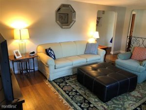 living room in a medford apartment